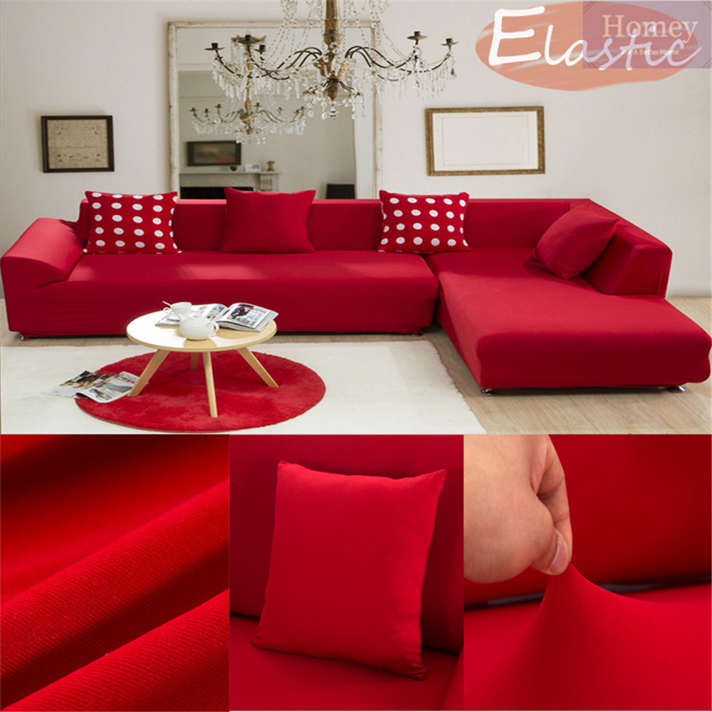 Case On The Red Sofa Cover For Merry Christmas For Home Decor Couch  Universal Elastic Cloth