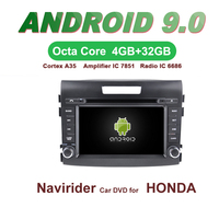 ELANMEY car gps navigation For HONDA CRV CR V 2012 2014 octa core android 9.0 touch screen CAR DVD multimedia radio headunit