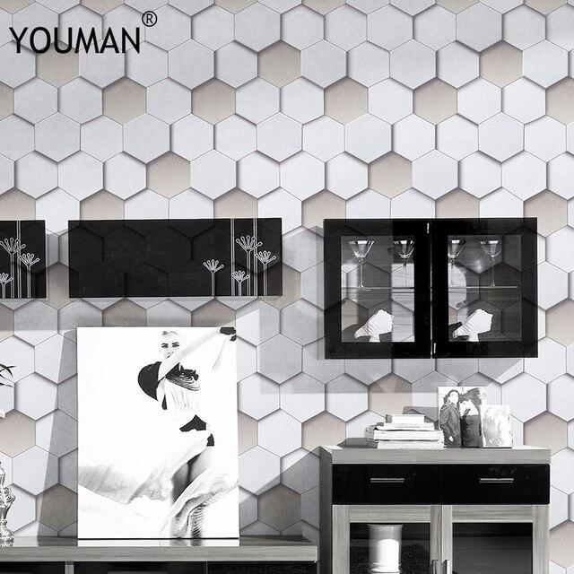 Sfondi YOUMAN Mosaico Moderna del PVC Rotoli di Carta Da Parati Per ...