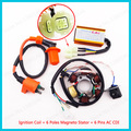 Ignition Coil Magneto Stator Coil 6 Poles AC CDI Box 6 Pin For GY6 50cc Moped Scooter ATV Quad Go Kart