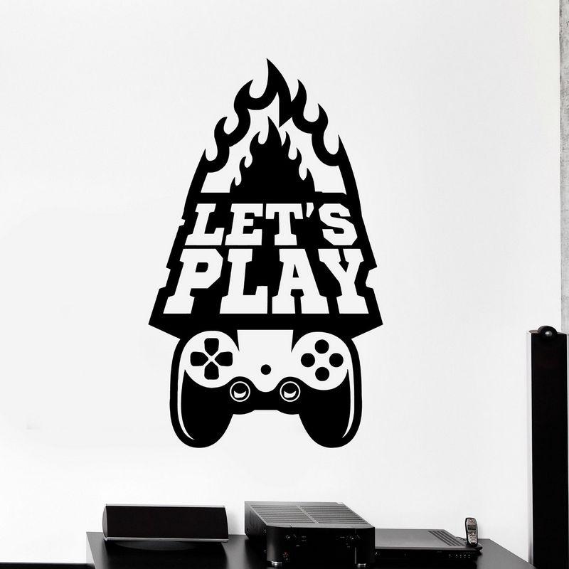 Buy game room handle sticker gamer decal - Posters y vinilos ...