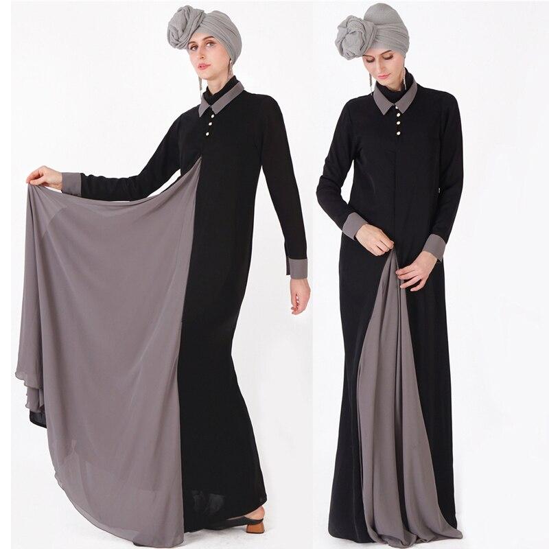 Splice Abaya Kaftan Hijab Muslim Dress Ramadan Turkey Dubai Women Caftan Marocain Arab Turkish Tesettur Elbise