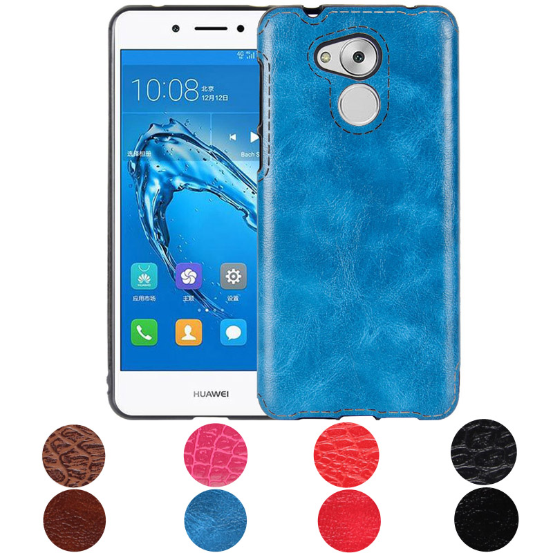 Чехол для телефона <font><b>Huawei</b></font> <font><b>Nova</b></font> Смарт ТПУ кожа Мягкая обложка для Coque <font><b>Huawei</b></font> Honor 6C чехол для <font><b>Huawei</b></font> наслаждаться 6 S сзади В виде ракушки 5.0 дюйма