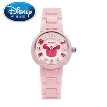 Disney Kids Watch  women children Watch Fashion Cute Wristwatches Girls Mickey Mouse Gift Water Resisitant clock ceramic