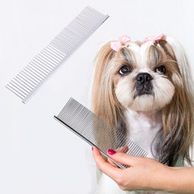 Comb Pet-Supplies Grooming Wide-Trimmer Shedding with Different-Spaced Round Teeth 6-Size/c42