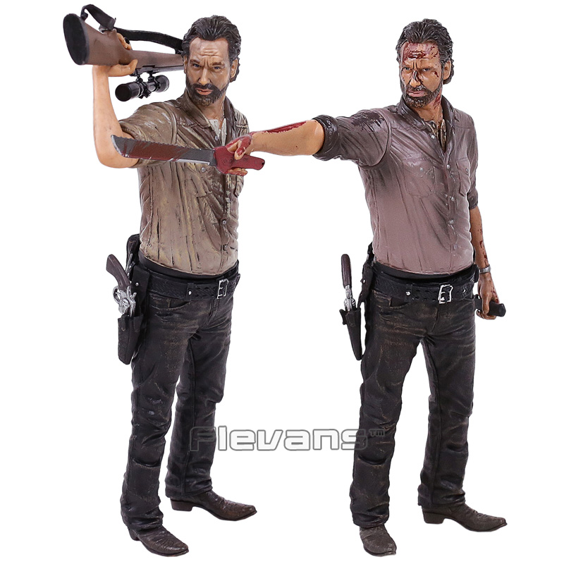 The Walking Dead Rick Grimes Vigilante Edition PVC Action Figure Collectible Model Toy 2 Types 10inch 25cm shfiguarts batman injustice ver pvc action figure collectible model toy 16cm kt1840