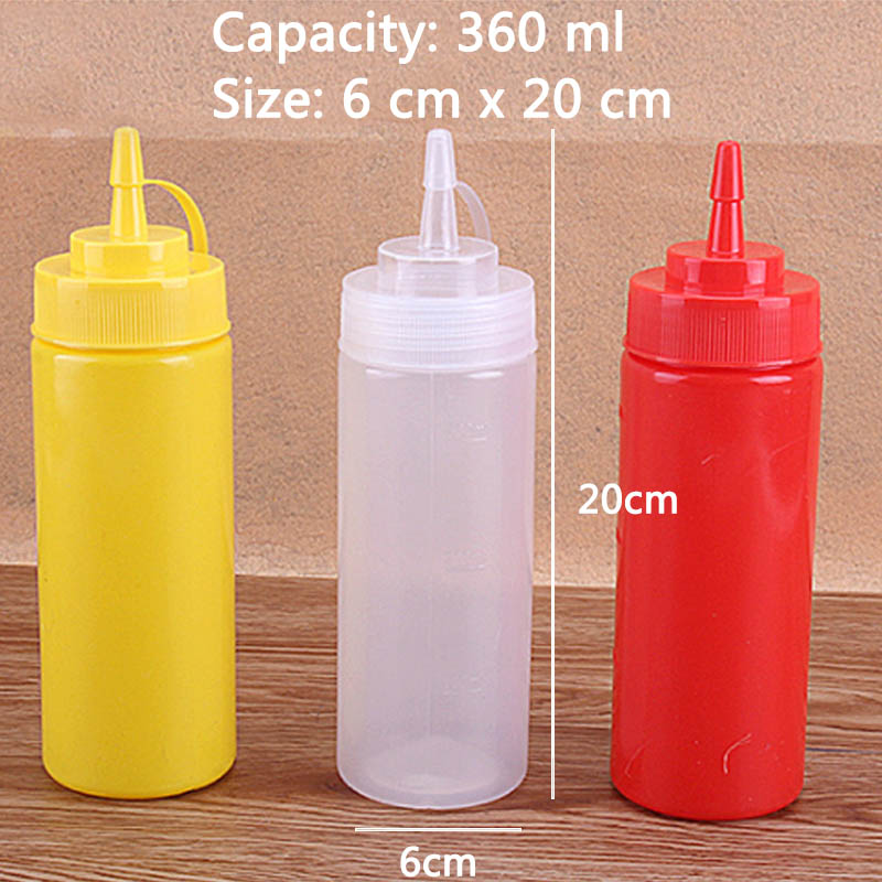 Kitchen Cooking Tools Plastic Squeeze Bottle Olive Oil Storage Jar Condiment Dispenser Vinegar Seasoning Accessories
