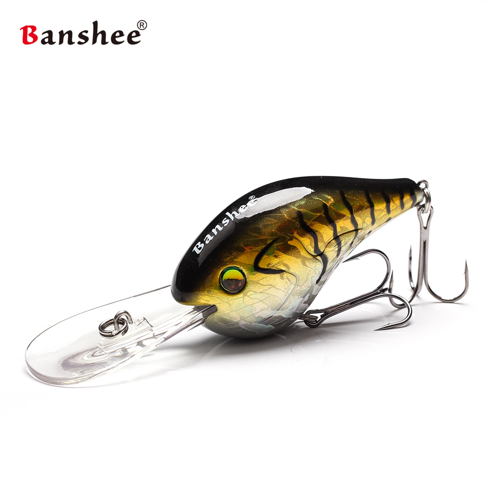 Banshee 75mm 24g Crankbaits On Chub Lures Fishing Deep Wobbler Floating Cranks Rattle Artificial Bait Hard Wobbler For Trolling