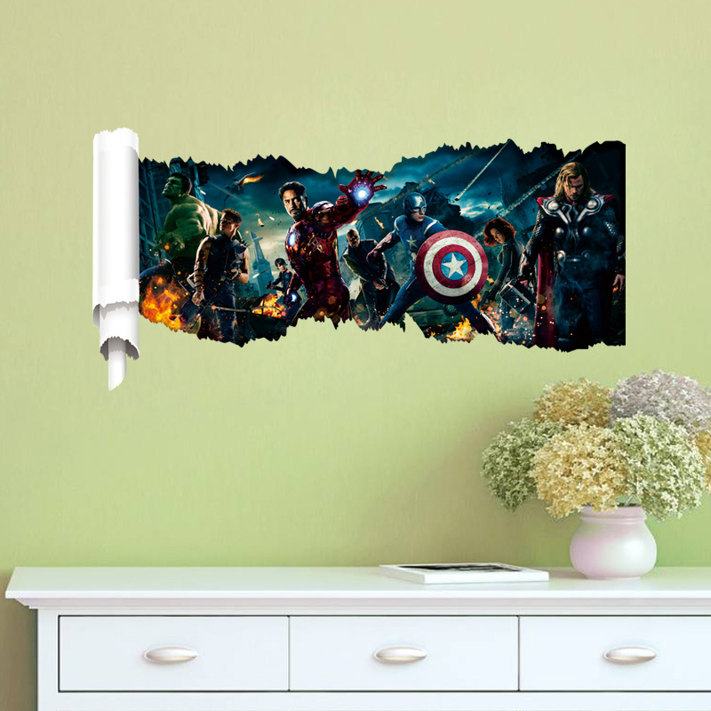 Fine Marvel 3d Wall Art Pictures Inspiration - Wall Art Design ...