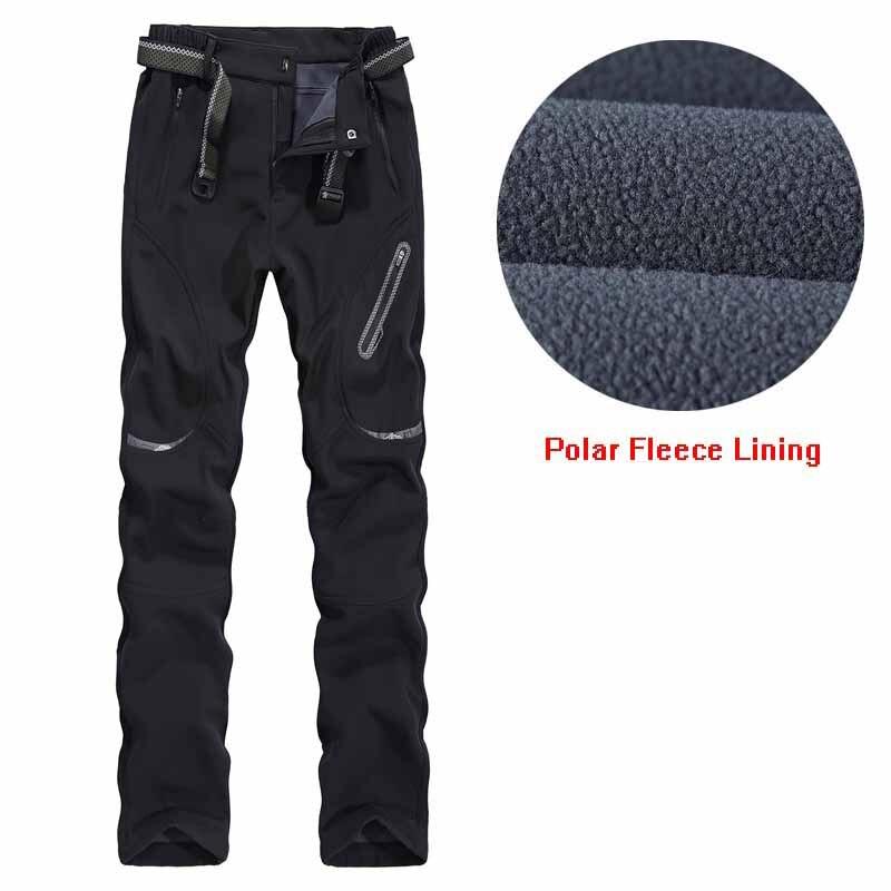 Pantalons de randonnée chauds pour femmes pantalons de survêtement en extérieur à coque souple doublure polaire pantalon d'hiver nouvelle dame pantalons de Camping Trekking