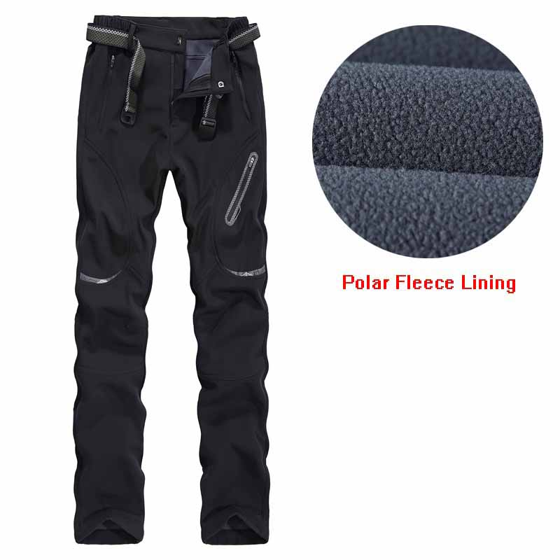 Warm Hiking Pants Women Soft Shell Outdoors Sweatpants Polar Fleece Lining Winter Trousers New Lady 's Trekking Camping Pants jones new york women s linen blend pants 14wp green
