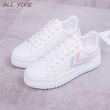 Все YIXIE/; сезон весна; модная обувь для отдыха; Летние Повседневные Дышащие женские кроссовки на низкой платформе; женская обувь для студентов