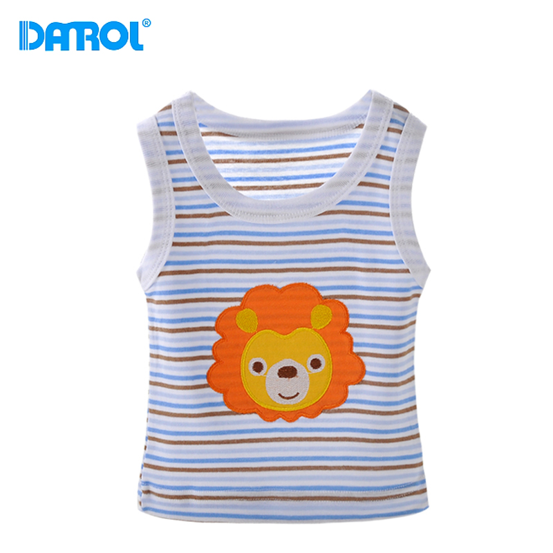 36M 5 Pieces/Lot Cotton Summer Baby Clothes O Neck Sleeveless Newborn Boy Girl Top Tees T-Shirt Cute Carton Infant Vest DR0144