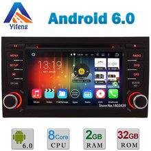 Octa Ядро Android 6.0 A53 PX5 2 ГБ + 32 ГБ WI-FI RDS BT Автомобильный DVD мультимедийный Плеер Стерео Радио GPS Навигация Для Audi A4 B9 RS4 B7