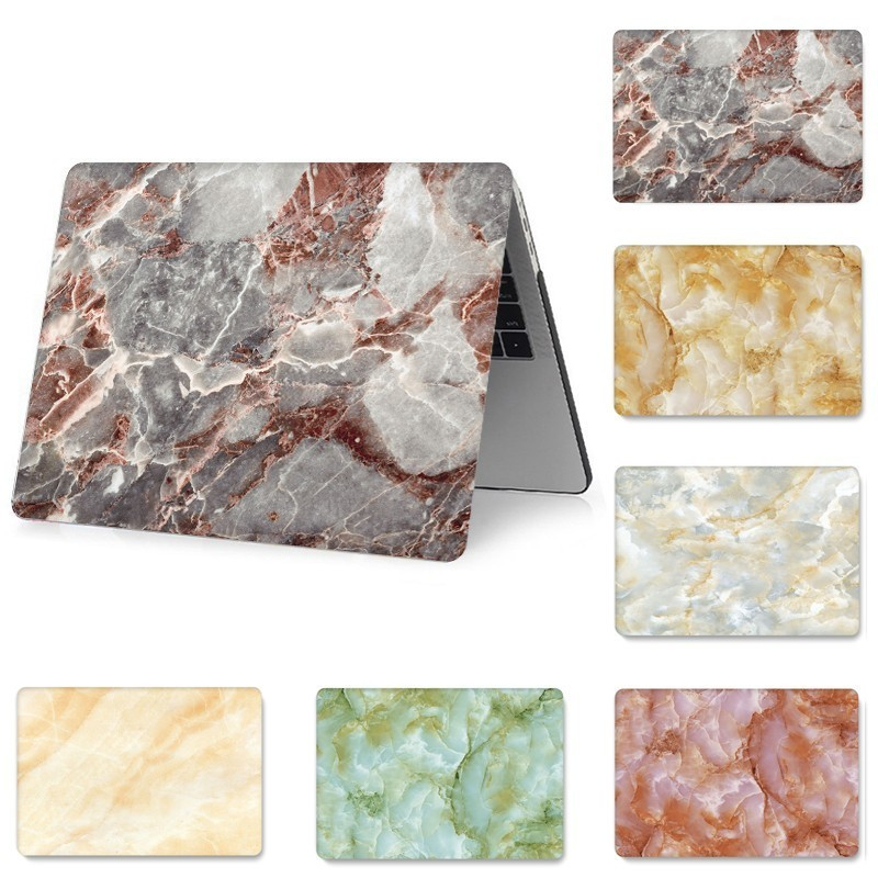 3D Print Marble Case for MacBook Pro Air Retina 11 12 13 15 with Touch Bar Replace Cover Funda A1286 A1990 A1989 A1706 A1398 in Laptop Bags Cases from Computer Office