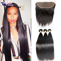 Peruvian 13x4 Full Lace Frontal Closure With Bundles Peruvian Straight Hair Bundles With Full Lace Closure