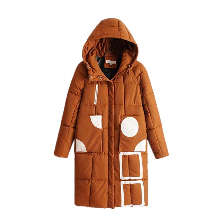 Cotton village 2017 winter new Korean fashion hooded cotton girls long thin cotton dress thick bread цена 2017