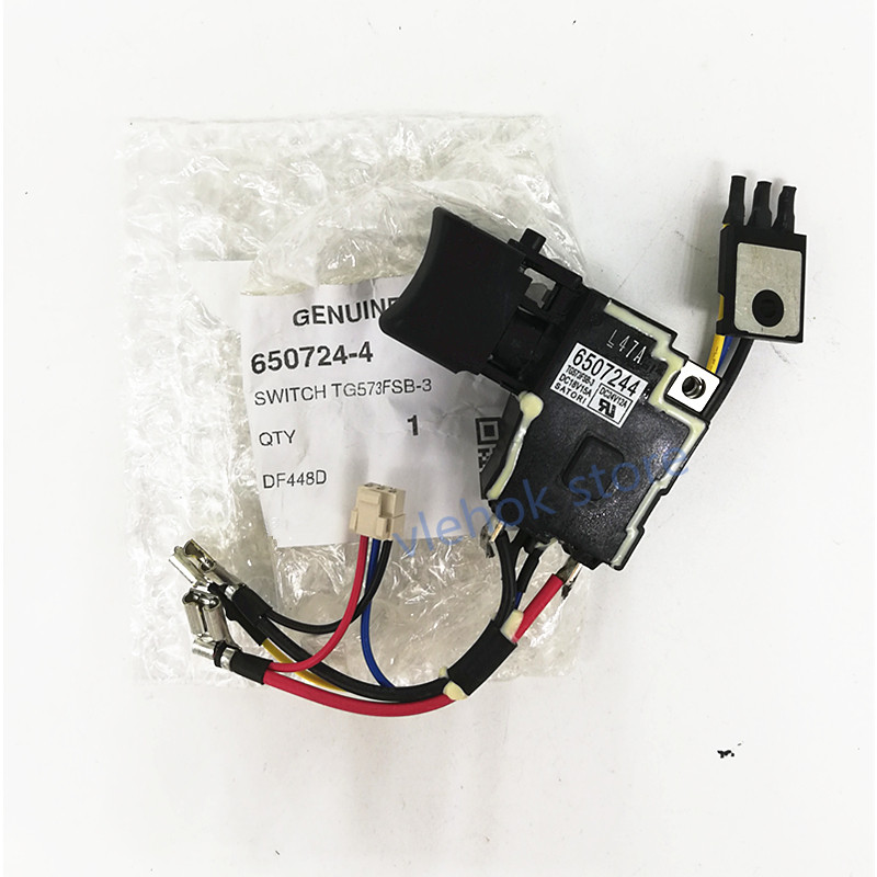 Switch 650724-4 for Makita 650682-4 6507244 DF448D DHP458 DHP448 DDF458 on