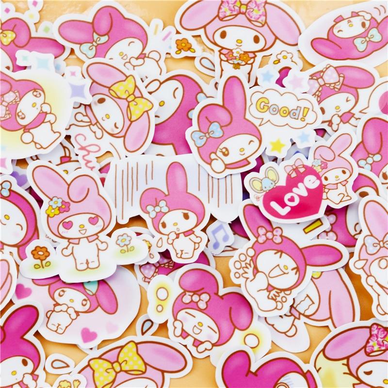 40pcs Creative Cute  Kawai Self-made My Melody Scrapbooking Stickers/decorative Sticker /DIY Craft Photo Albums