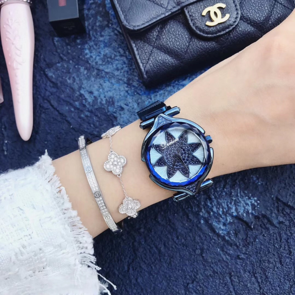 New Fashion Ultra Thin Milanese Watches for Women Luxury Crystals Sunflower Wrist watch Anti Fade Blue Steel Watch Quartz MontreNew Fashion Ultra Thin Milanese Watches for Women Luxury Crystals Sunflower Wrist watch Anti Fade Blue Steel Watch Quartz Montre