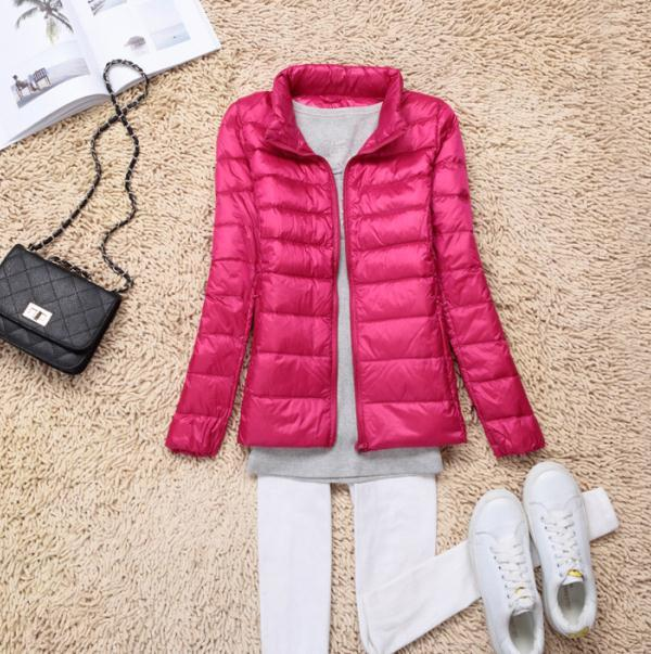 Sanishroly 2018 New Autumn Winter Women Thin White Duck Down Jacket Parka Female Ultra Light Down Coat Short Tops Plus Size S268 7