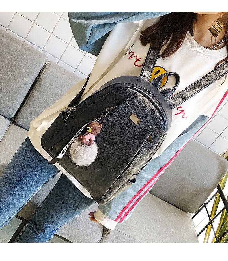 HTB1GrWRa.vrK1RjSspcq6zzSXXaT Fashion Gold Leather Backpack Women Black Vintage Large Bag For Female Teenage Girls School Bag Solid Backpacks mochila XA56H