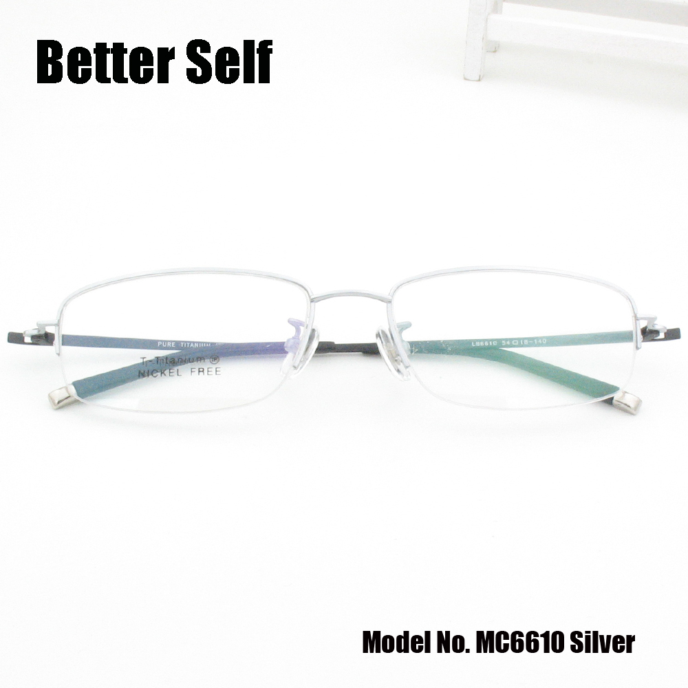 49b06cb521 Aliexpress.com   Buy Rectangle Frames Eyewear Vintage Spectacles Can Do  Miopia Men Women Optical Eyewear Better Self MC6610 Gold Titanium Glasses  from ...