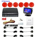 new arrival 6 Sensors Buzzer LCD display monitor car Parking Sensor Kit Reverse Backup Radar Monitor System 12V 9 Colors