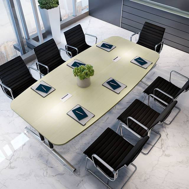 Conference Tables Office Furniture Commercial Furniture Wood+steel Modern  Office Tables 480*140*74 Cm Office Desk Minimalist