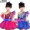 girls dance skirts 2016 the new dance costumes for kids  latin dance Sequin jazz dance tanzkleider