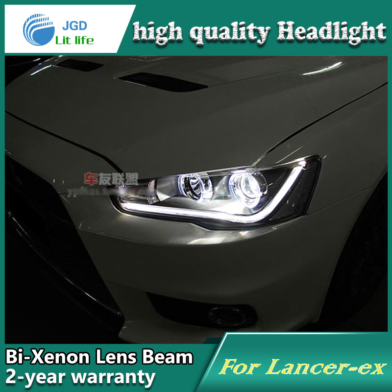 high quality Car Styling case for Mitsubishi Lancer 2010-2013 Headlights LED Headlight DRL Lens Double Beam HID Xenon high quality car styling case for mitsubishi lancer ex 2009 2011 headlights led headlight drl lens double beam hid xenon
