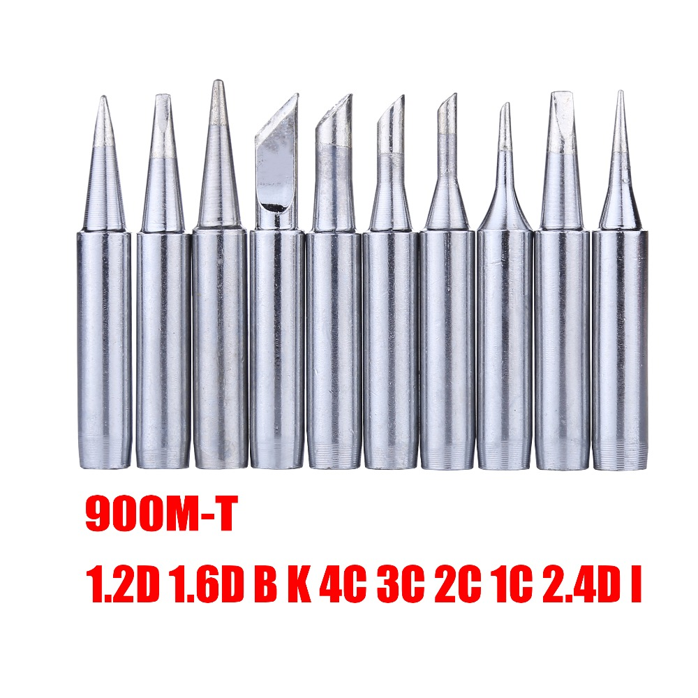 10pcs/lot 900M-T Series Soldering Tip Welding Sting Soldering Iron Tips for BGA Soldering Rework Station Repair Tools 10pcs lot repair welding inverter commonly used components w20nk50z field effect tube