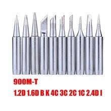 Pointes de fer à souder pour soudure BGA, outils de réparation de Station de soudage 900M T série 10 pièces/lot