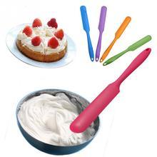 New Cake Scraper Cake Cream Butter Spatula Mixing Scraper Brush Silicone Cake Tool