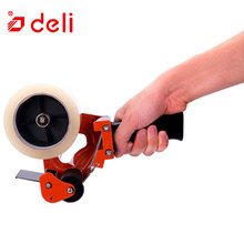 Deli Sealing Packaging Parcel Plastic Roller 60mm Width Tape Cutter Dispenser Plastic Sealing Tape Holder Cutter Manual Packing цены