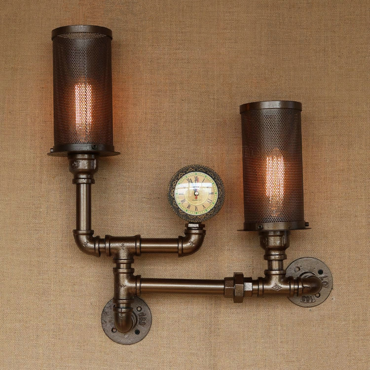 ᗑ】Water Pipe Vintage Loft Style Wall Lamp Industrial Wall Sconce ...