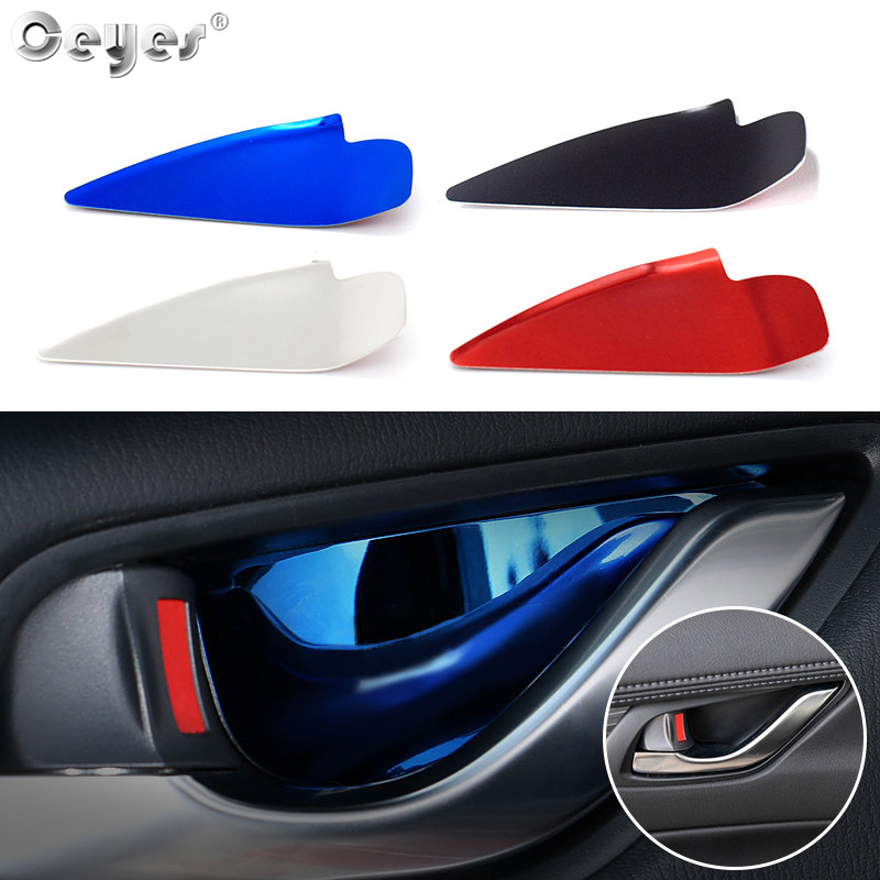 Ceyes Car Styling Auto <font><b>Interior</b></font> <font><b>Accessories</b></font> Door Bowl Handle Cover Trim Stickers Case For <font><b>Mazda</b></font> Axela Atenza <font><b>CX</b></font> 3 2017 <font><b>2018</b></font> <font><b>CX</b></font> <font><b>5</b></font> image