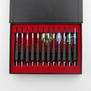 High-Quality 12PCS Dart Case in Black 14 * 20 * 3.5CM Darts Tool Box is Suitable For the Darts Steel Tip Darts Electronic