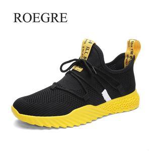 Image 1 - Baskets en maille pour hommes, chaussures de mouvement légères respirantes, à la mode, pour automne et été 2019, collection chaussures décontractées