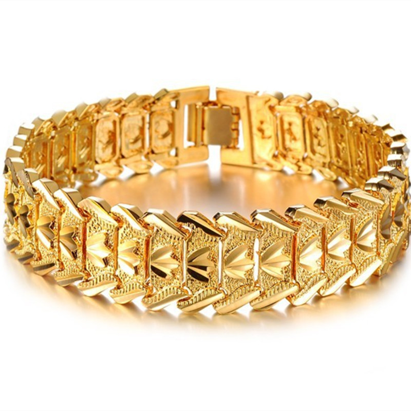 Hot Ing Fashion Accessories Male Gold Bracelet Personalized Gift For Men In Charm Bracelets From Jewelry On