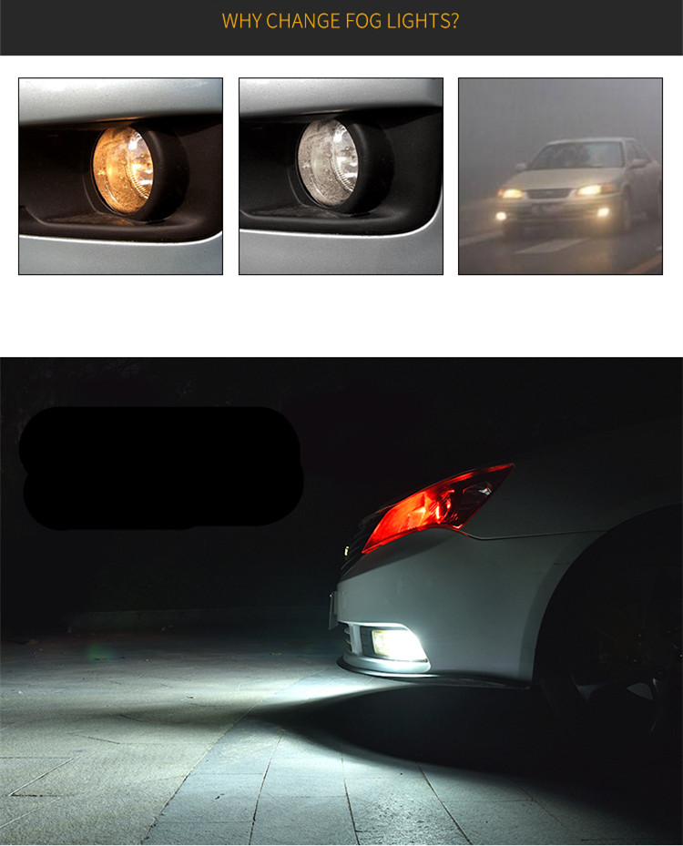 6-colors-H8-H11-Led-Fog-Lights-Bulb-1200LM-6000K-White-Car-Driving-Daytime-Running-Lamp