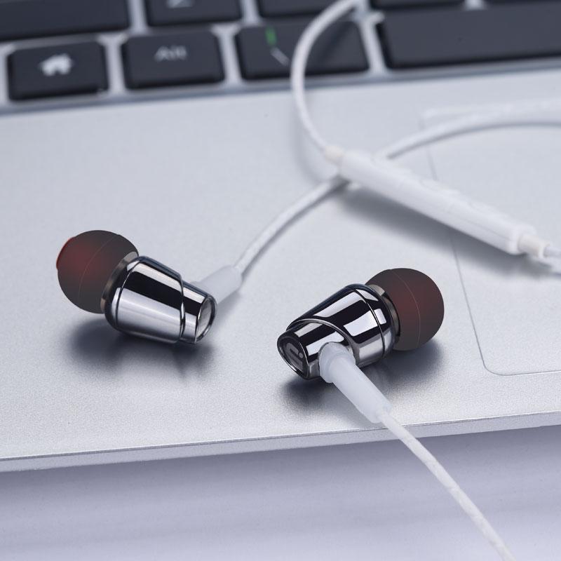 Orijinal Ipsdi E01 Stereo Kulaklık 3.5mm Kulak Kulaklık metal - Taşınabilir Ses ve Görüntü - Fotoğraf 4