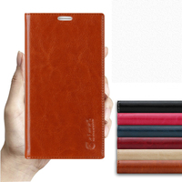 Sucker Cover Case For Xiaomi Redmi Note 4X High Quality Luxury Cowhide Genuine Leather Flip Stand
