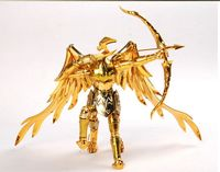 QQ Model Sagittarius Aiolos Glod Saint Seiya Myth Cloth Ex Metal Armor With Holy Hanger Without