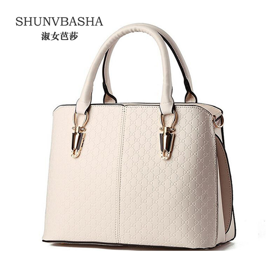 Women Hot Pu Leather Handbags Bolsas Female Casual Shoulder Bags Ladies Attractive Crossbody Bags Beige Tote Bag Sac A Main