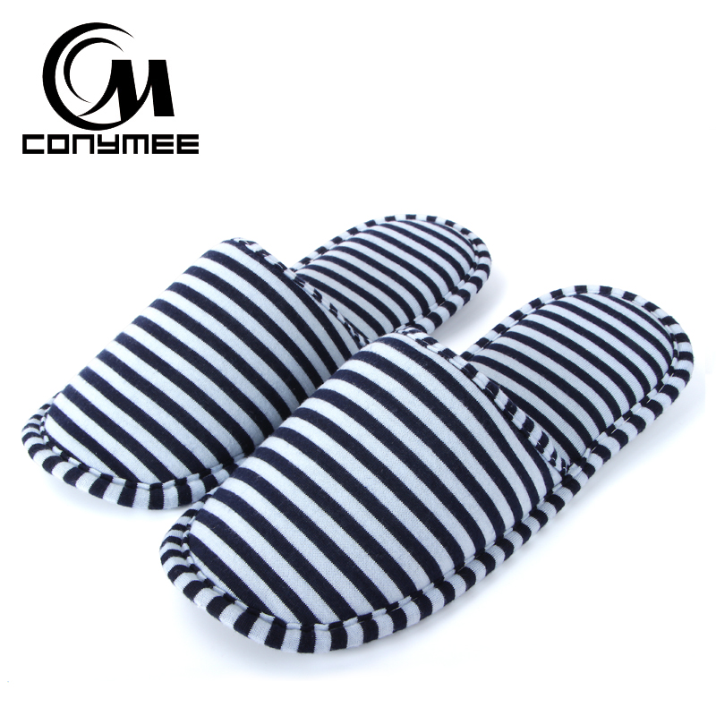 CONYMEE Home Slippers Men Women Portable Folding Travel Shoes Casual Sneakers Couple Hotel Cotton Slipper Indoor Soft Pantufas