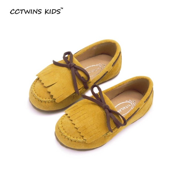 CCTWINS KIDS 2017 spring baby girl princess dance shoe for flat genuine leather shoe for kid children fashion shoe moccasin pink