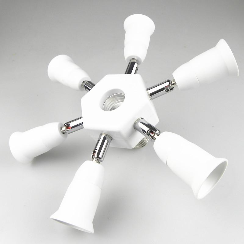 AKDSteel E27 1-Head to 7-Head Converter Lamp Holder LED Light Bulb Base