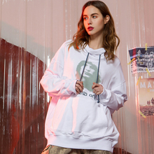 Fashion Turtleneck Oversized Hoodie Women Clothes 2019 New Arrival Hip-hop Character Print Front Pocket Sweatshirt