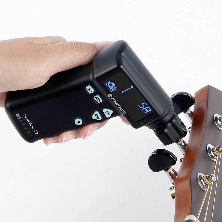 BATESMUSIC T2 smart Tuner Automatique Guitare tuning Cordes À Puce Tuner Peg Manivelle Acoustique Guitare Électrique Automatique Outil